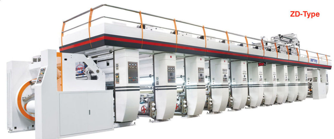 Multi Color Plastic Film Printing Machine Continuous Printing Electronic Line Shaft System