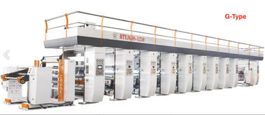 China M/Z/G Type Plastic Film Printing Machine Rotogravure 250 M/Min Smooth Surface factory