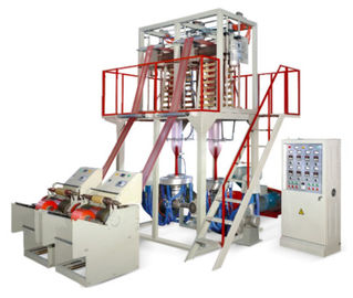 China Double Die Head Plastic Film Blowing Machine Line FB-H Easy Roll Changing factory