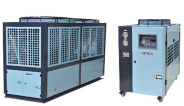 Energy Saving Plastic Auxiliary Equipment Air Cooled Chiller Equipped Low Noise Blower Fan